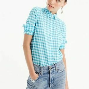 J. CREW | Classic-fit Boy Shirt in Teal Gingham